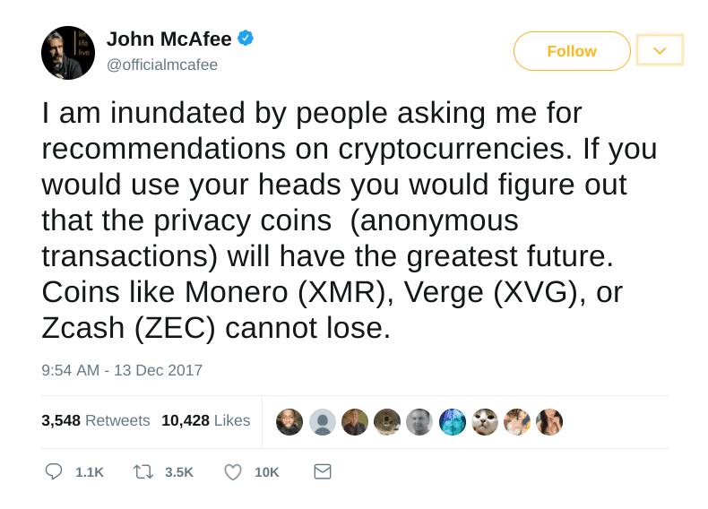 john mcafee verge tweet