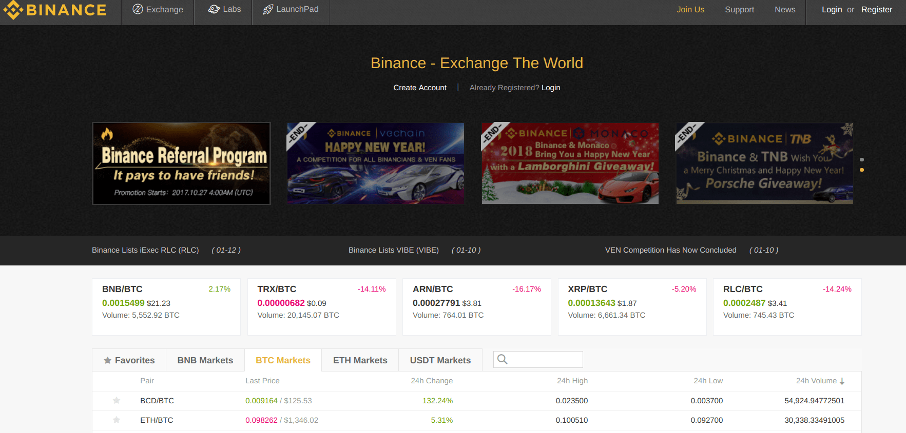 how to sign up to binance